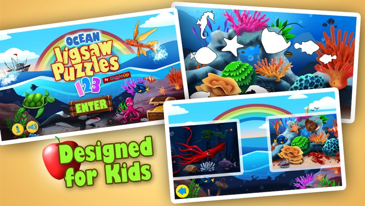 Ocean Jigsaw Puzzle 123 - Word Learning Puzzle Game for Kids screenshot-3