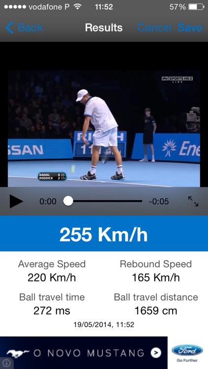 Tennis Speed Radar by SoftVenture