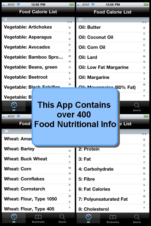 Food Calorie List screenshot-2