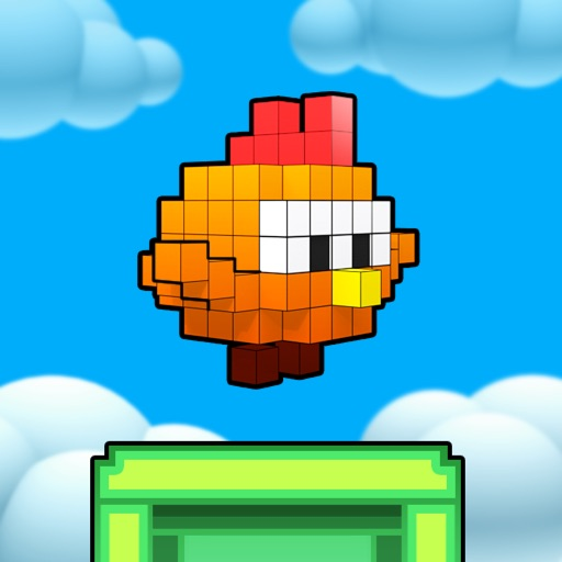 Flappy Chick 3D - tap to flap