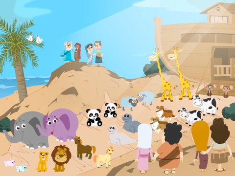 Noah's Ark Bible Story with Built-in Games - Fun and Interactive in HD iPad