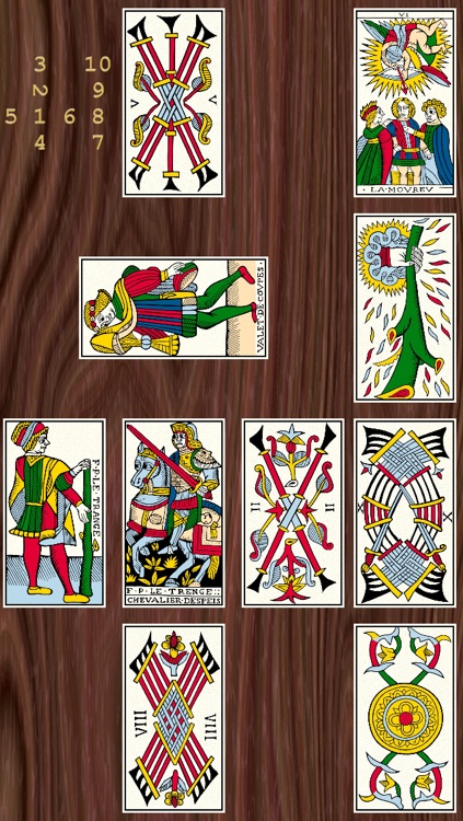 Ancient tarot restored by J.-C. Flornoy