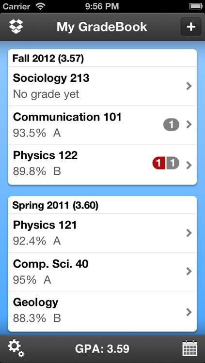 My Grades & Homework