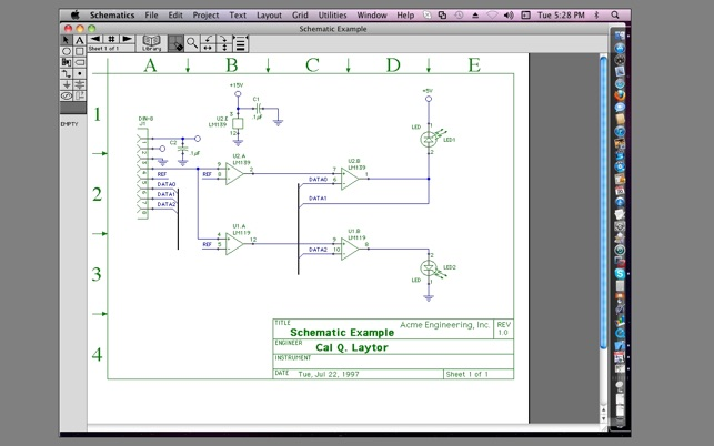 Schematics SE500 on the Mac App Store