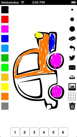 Libro para colorear los vehiculos para niños: auto, bus, avión ...