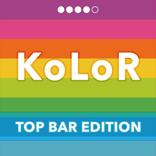 KoLoR Wallpaper : Top Bar Edition - Create Wallpapers with Colorful Top Bar iOS App