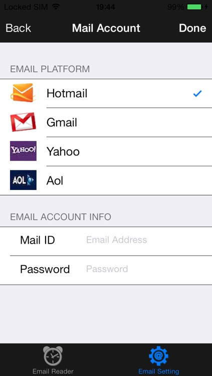Email Reader Arabic Version : for Hotmail, Gmail, Yahoo y AOL