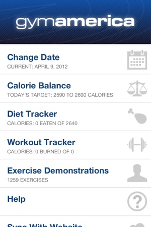 workout and diet tracker