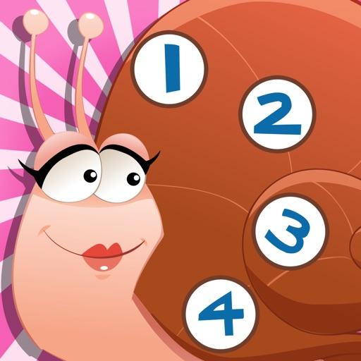 123 игры для детей в возрасте 2-5 о насекомых в лесу: Учимся считать номера 1-10 с животными, паук, муравьи, комары, бабочки, деревья и цветы. Для
