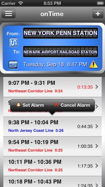 onTime : NJT (NJ Transit)