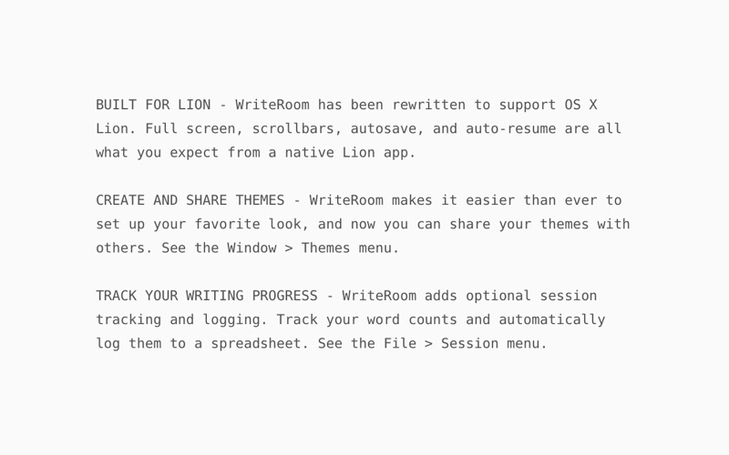 WriteRoom Screenshot