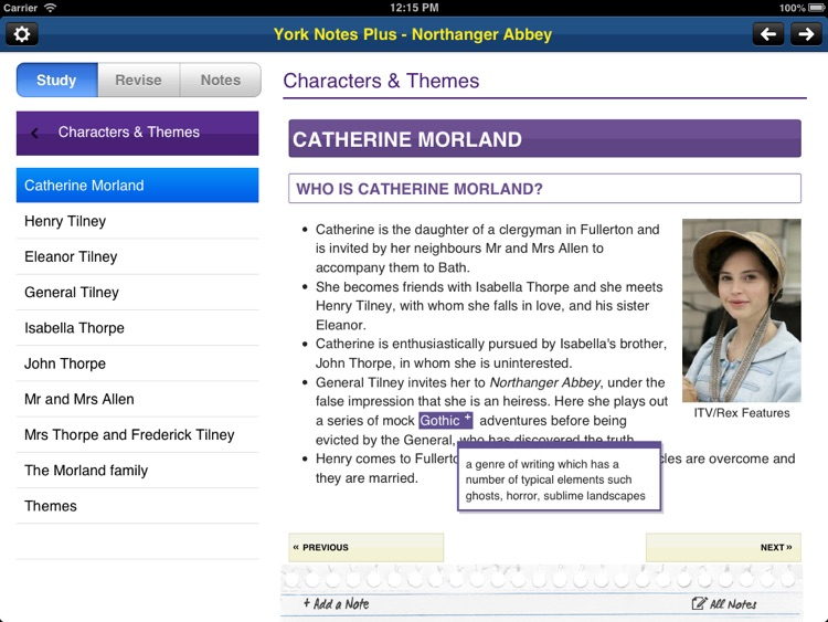 Northanger Abbey York Notes AS and A2 for iPad