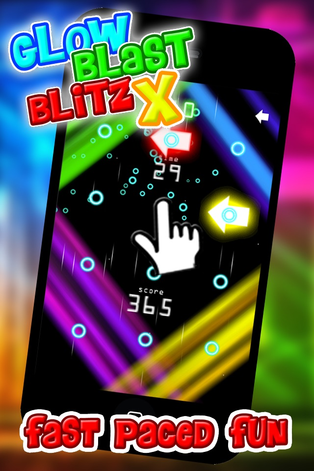 Glow Blast Blitz X - the free fast and furious training game for tap tap games hack tool