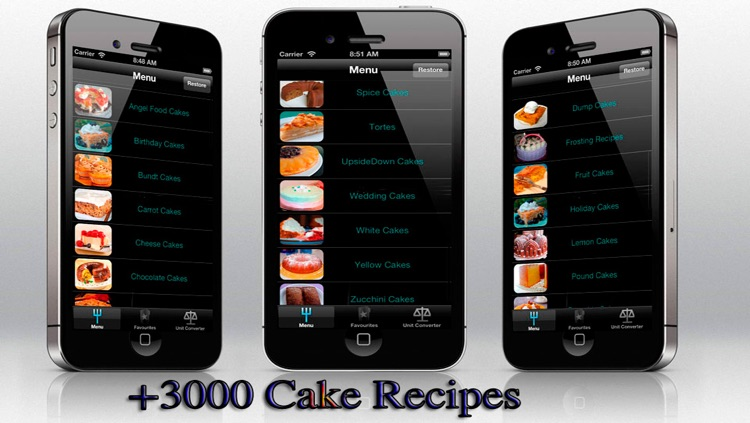 Cake Recipes for iPhone, iPod and iPad
