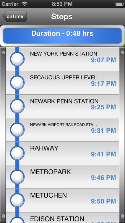 onTime : NJT (NJ Transit) screenshot-3