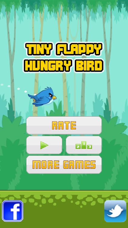 Tiny Flappy Hungry Bird - A clumsy little bird's endless search for food screenshot-3