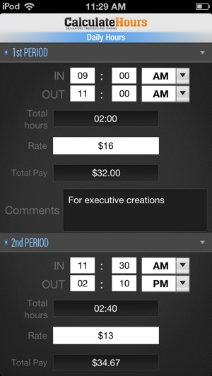 Calculate Hours Worked  Timesheet Calculator On The App Store