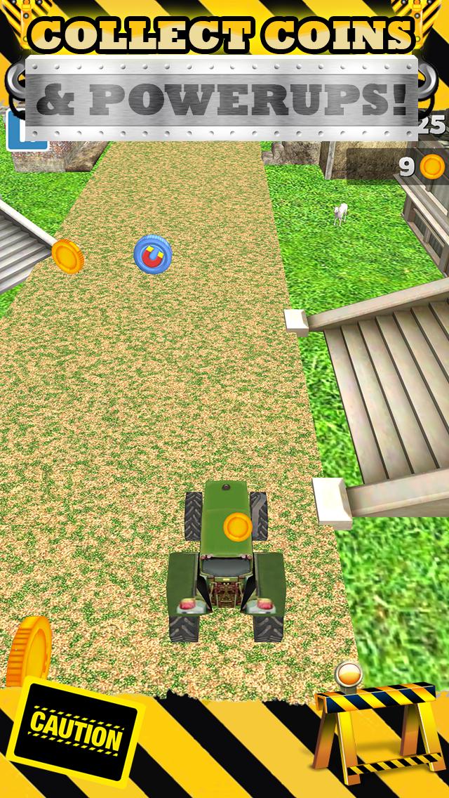 無料で恐ろしい男の子と子供のためのトップファームレースゲームで3Dトラクターレースゲームのおすすめ画像3