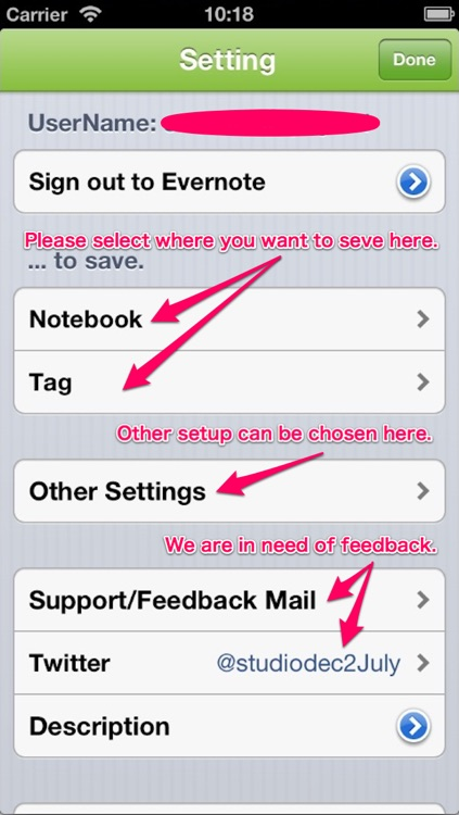 MusicEver - A music life log is memorized to Evernote®.