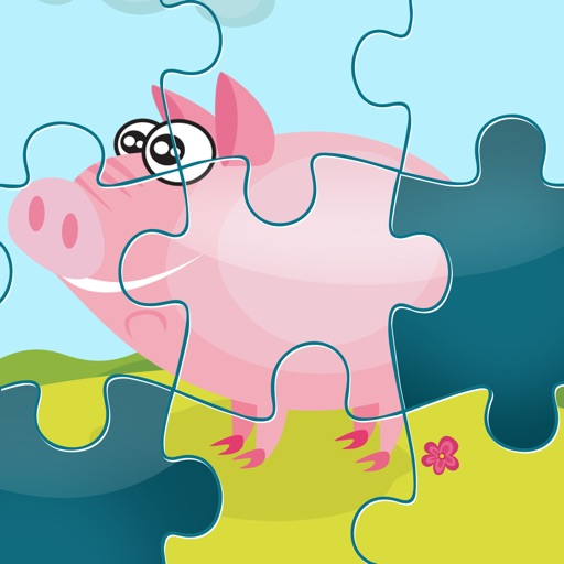 農場拼圖 - 拼圖兒童,幼兒和家長的遊戲! 學習 與動物,農民,牛,馬,羊,鵝,鴨,蜜蜂和蝴蝶的幼兒園,學前班和幼兒園
