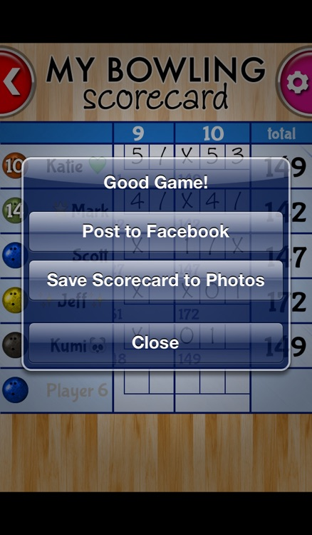 My Bowling Scorecard screenshot-3