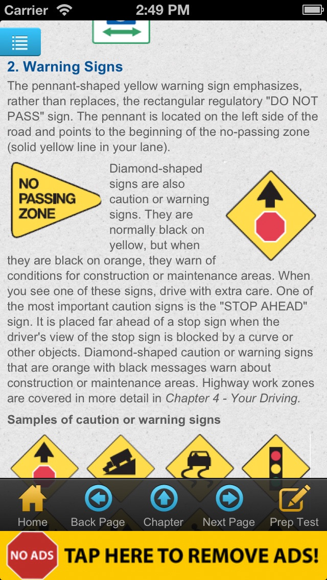 north carolina drivers handbook signs