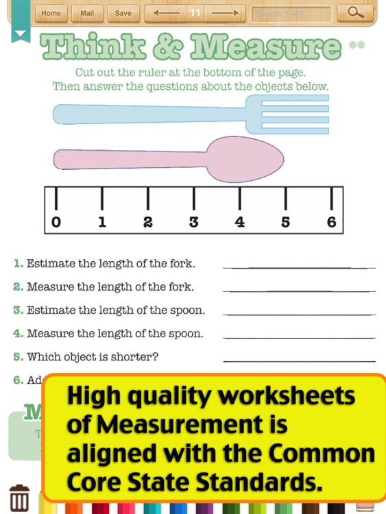 Kids Math-Measurement Worksheets(Grade 2)