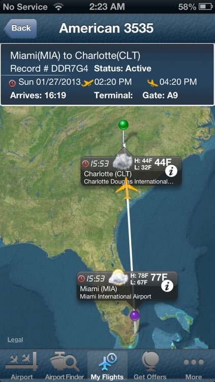 Charlotte Airport - Flight Tracker CLT Douglas American screenshot-0