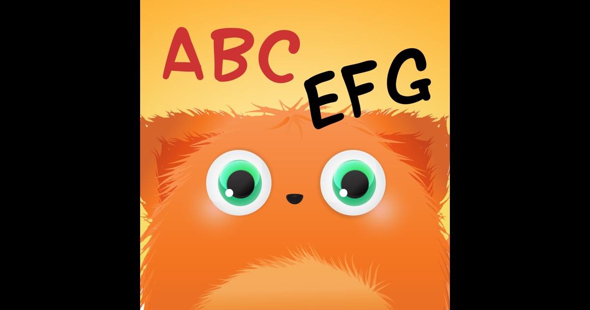 abc monster alphabet spiel f r kinder um lesen schreiben und buchstabieren f r vorschule. Black Bedroom Furniture Sets. Home Design Ideas