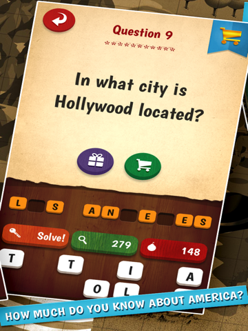 The American Quiz - A Free U.S. Quiz Game Spanning Celebrities, History, Geography, Entertainment, Sports and Culture screenshot