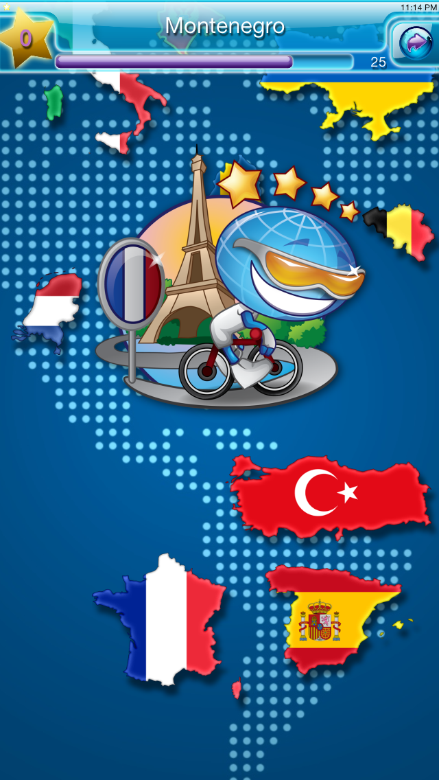 Geo World Games - Fun World and USA Geography Quiz With Audio Pronunciation for Kids Screenshot