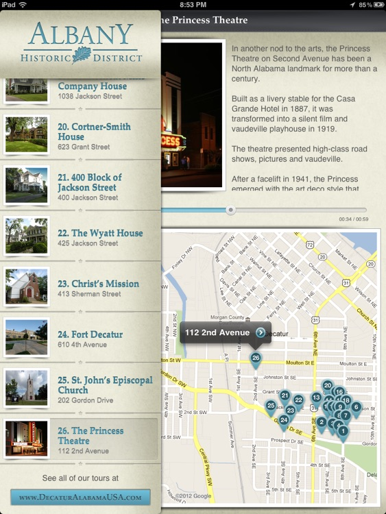 Albany Historic Walking Tour for iPad - City of Decatur, AL screenshot-3