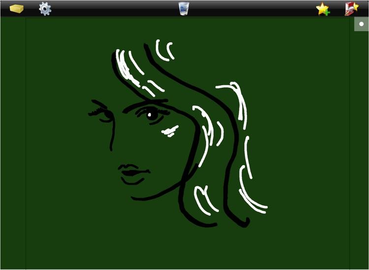 School Blackboard iPad - Write note draw doodle and color - Handwriting - Free screenshot-3