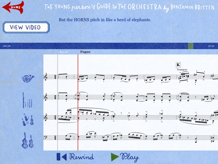 Young Person's Guide to the Orchestra by Benjamin Britten screenshot-3