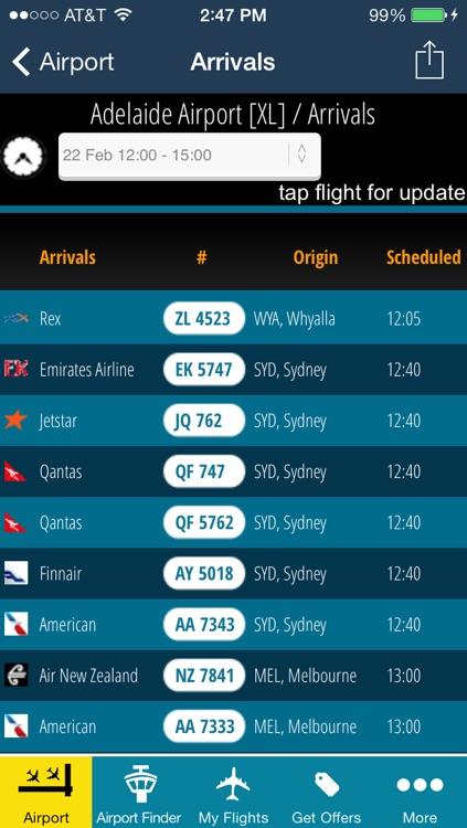 Adelaide Airport-Flight Tracker