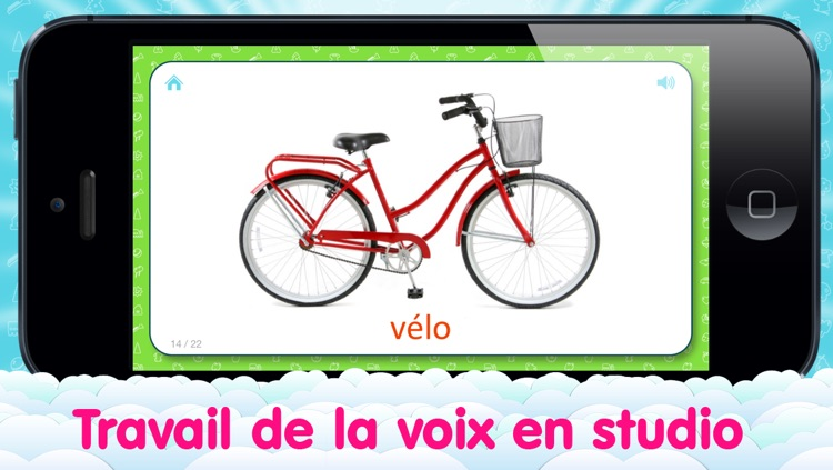 French Flashcards for Kids and logic game «Find a Picture»