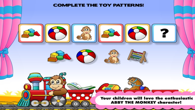 Abby Monkey® Basic Skills: Preschool and Kindergarten Kids Educational Early Learning Adventure Games.▫ TeachMe Counting, Colors, Alphabet, Math, Numbers, Shapes Sorting, Patterns, Puzzles, Learn to Read Letters for Toddler Children screenshot-4