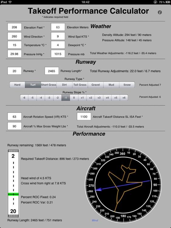 Takeoff Calc HD