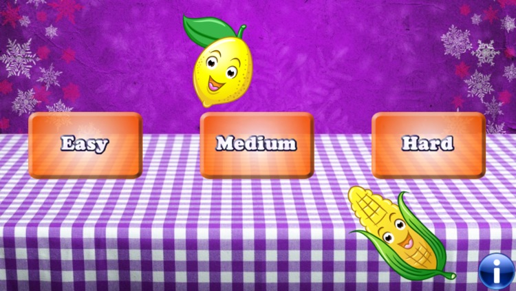 Fruits and Vegetables for Toddlers and Kids : discover the food ! FREE app screenshot-0