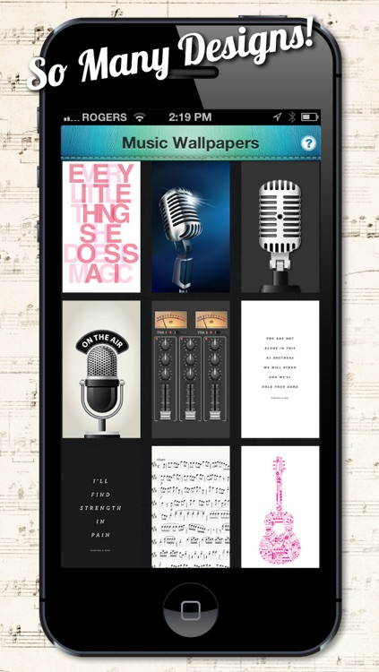 Music Backgrounds, Wallpapers and Themes for Musicians and Artists screenshot-4