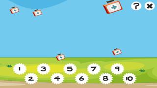 123 Animitiertes計數遊戲為幼兒:我的第一個數學問題。到10學在醫院數屏幕截圖4
