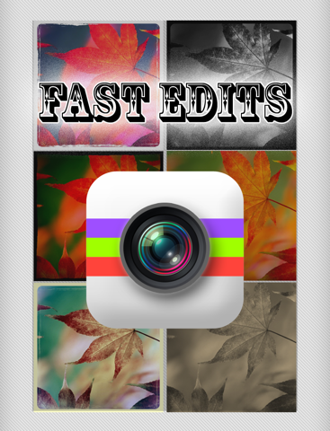 Fast Edits - Make and Create Fast Quick Edit for Your Photos w/ Image Effect & Editing Effects screenshot