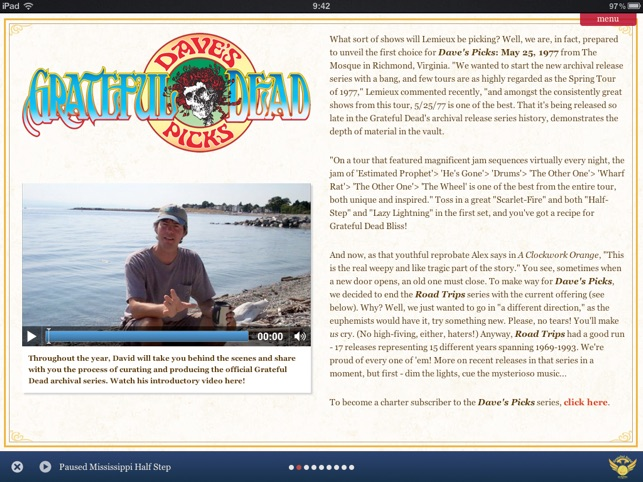 Grateful Dead Almanac Hd On The App Store