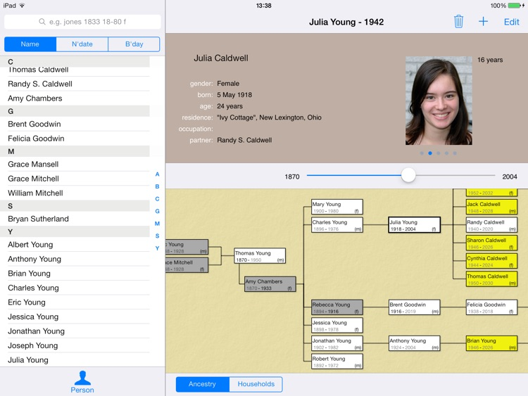 LiveHistory genealogy