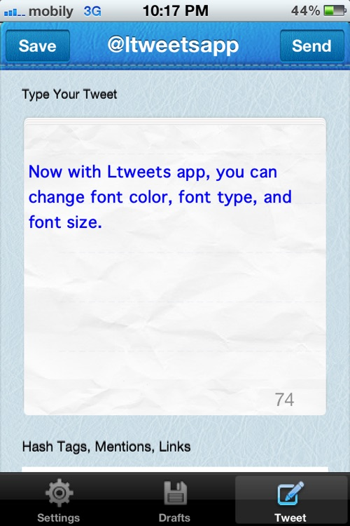 Ltweets Free screenshot-1