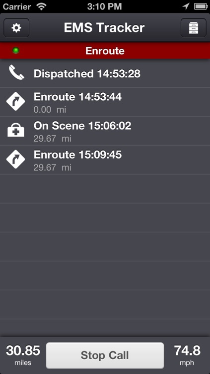 EMS Tracker - EMT, Fire and Ambulance GPS Log screenshot-0