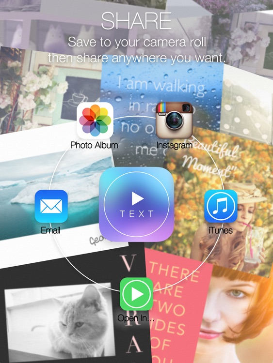 Text on Video Square - Turn Your Caption Phrase or Quote into Stylish Videos Text Designs with Background Music and Share to Instagram in Square Size screenshot-4