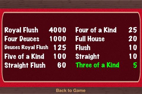 TouchPlay Deuces Wild Video Poker Lite screenshot-3