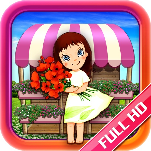 Designer Flower Girl HD icon