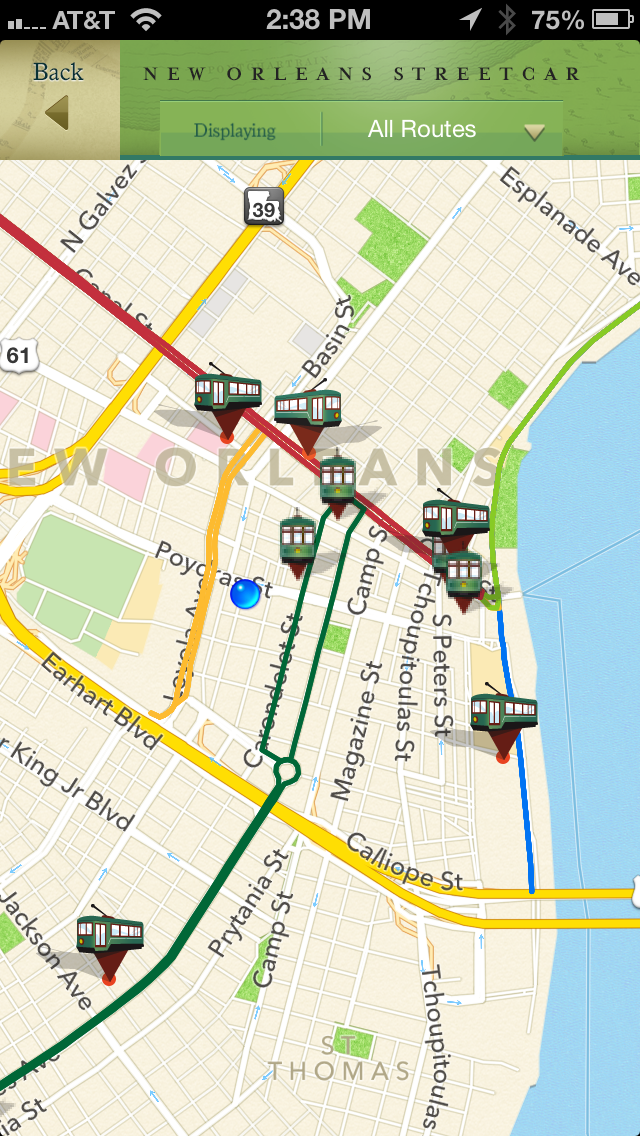 French Quarter, Garden District Historic Tours and New Orleans Streetcar Tracker screenshot two